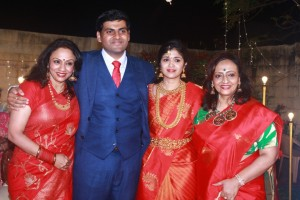 Y Gee Mahendra's Son Harshavardhana - Shwetha Reception